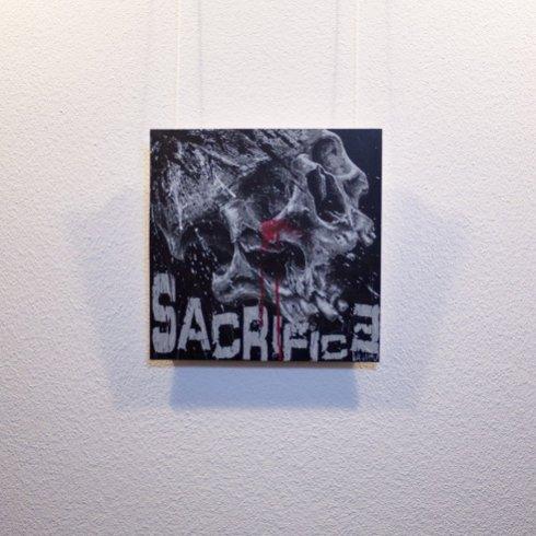 """""""Sacrifice"""" - Oeuvre original de Guy Labo-O-Kult, peinture acrylique"""
