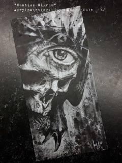 "Acrylpainting ""Nuntius Nigrum"" by Guy Labo-O-Kult"