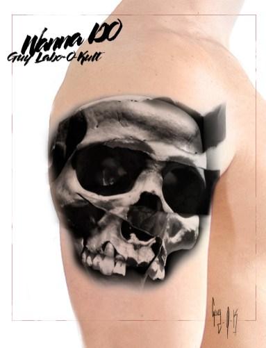 "Mock up Wanna Do ""Paper Skull"" - Guy Labo-O-Kult"