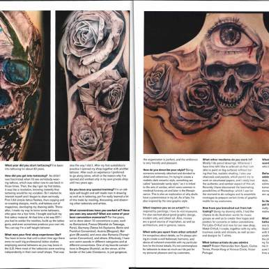 """Interview with Guy Labo-O-Kult in US Tattoo Magazin """"Freshly Inked"""""""