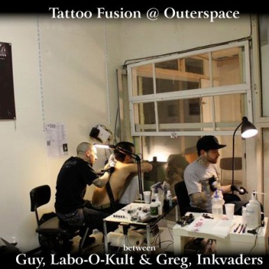 Art / Tattoo Fusion Happening @ Outerspace, Geneva