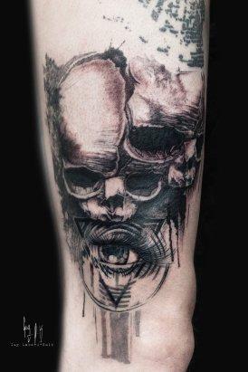 Wanna Do design tattooed by Guy Labo-O-Kult