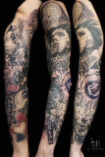 """Full sleeve """"the elements"""""""