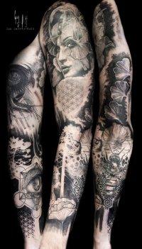"""Full sleeve """"Gaïa & the cosmos"""""""