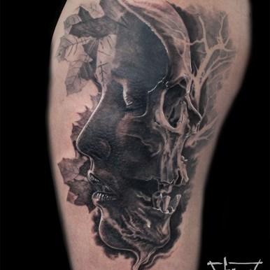 Tatouage Memento Mori | Guy Labo-O-Kult