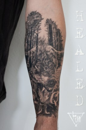 Wolf Tattoo by Guy Labo-O-Kult
