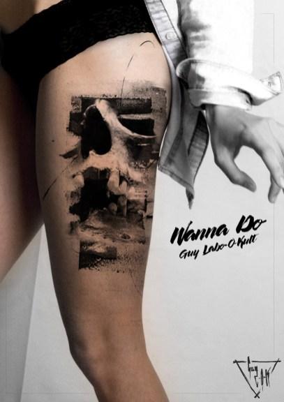 "Idee Wanna Do ""Skull Love"" von Guy Labo-O-Kult"
