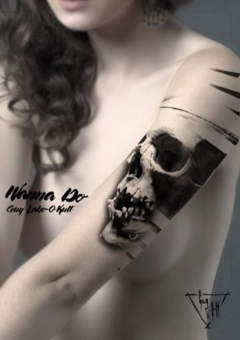 "Idée de motif ""Stairy Skull"" - Guy Labo-O-Kult"