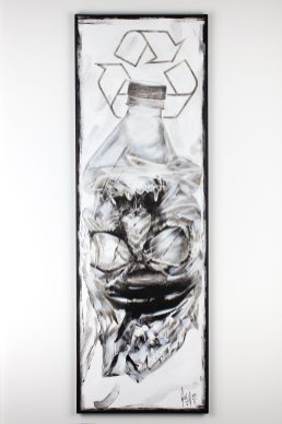 """Recyclable?"" de Guy Labo-O-Kult | Oeuvre original – Acryl sur toile."
