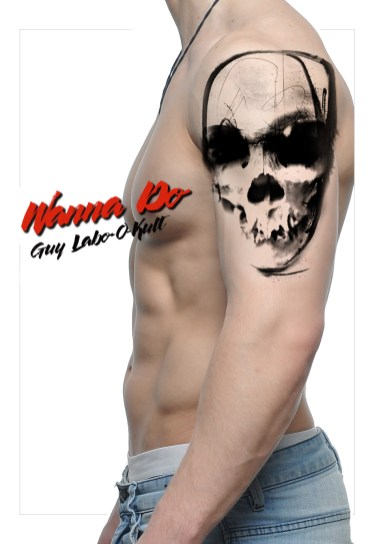 "Idée de motif ""Crâne abstrait II"" - Guy Labo-O-Kult"