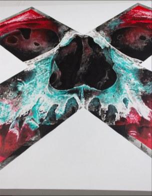 """Focused"" – œuvre originale de Guy Labo-O-Kult en peinture acrylique sur toile"