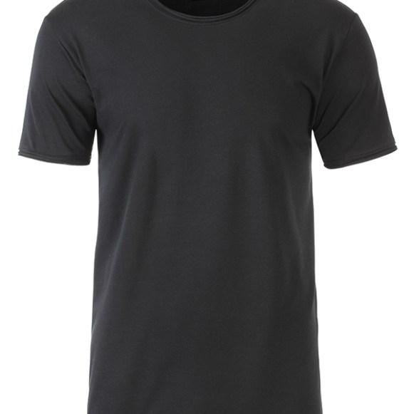 J&N T-Shirt Homme avec col et manches avec ourlet