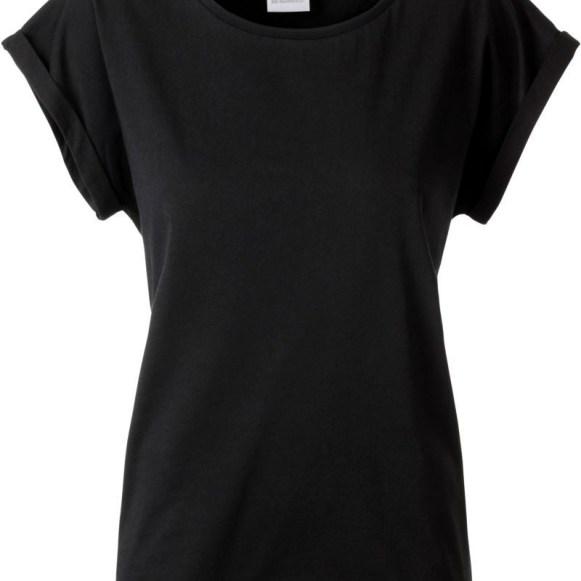 J&N T-Shirt Femme avec col et manches avec ourlet