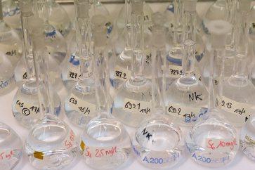 Echantillons pour analyse après minéralisation