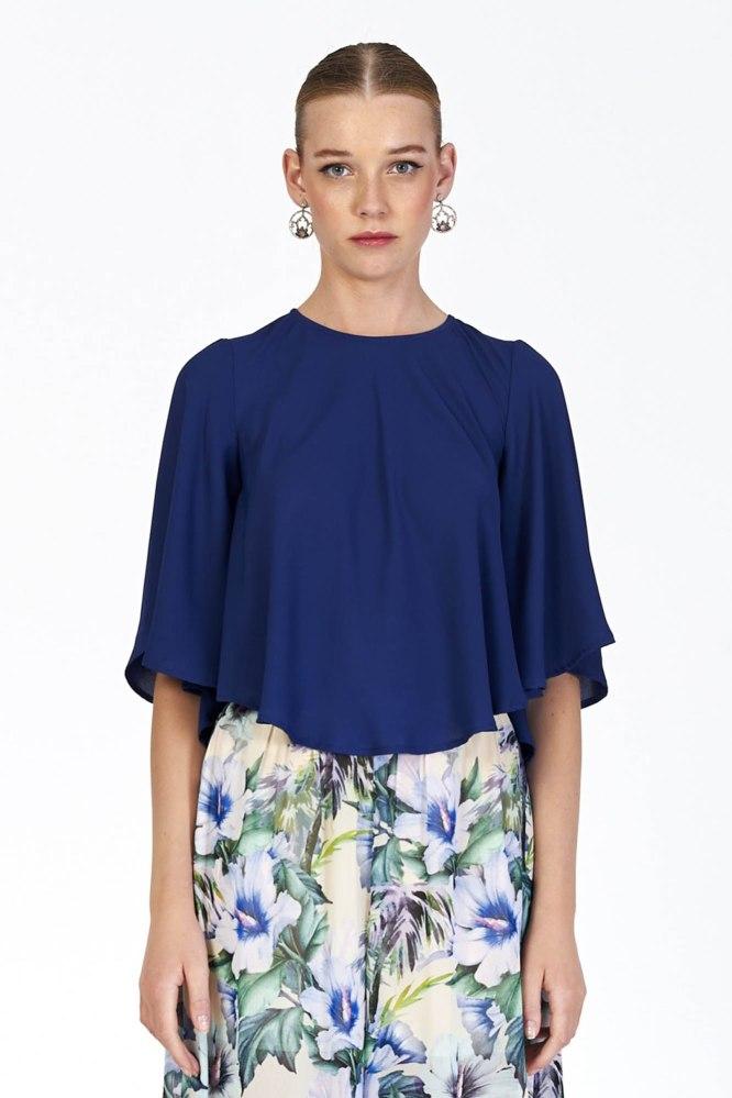Blusa Marise Azul Marú Atelier