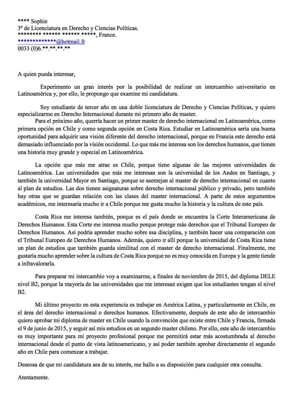 image lettre de motivation semestre a letranger modele cv