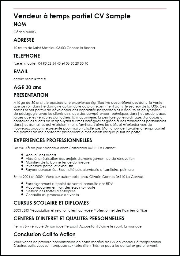 exemple cv pour angleterre
