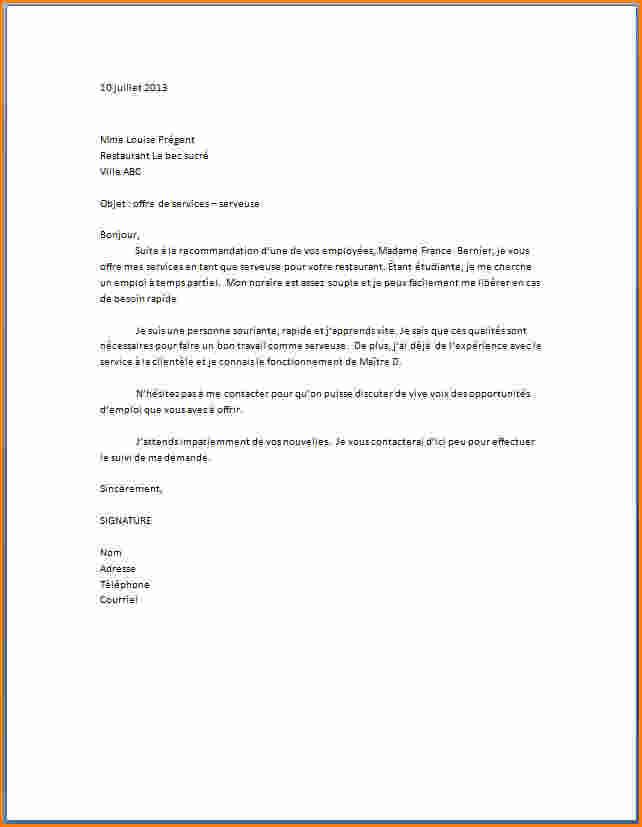 lettre de motivation premier emploi sans experience