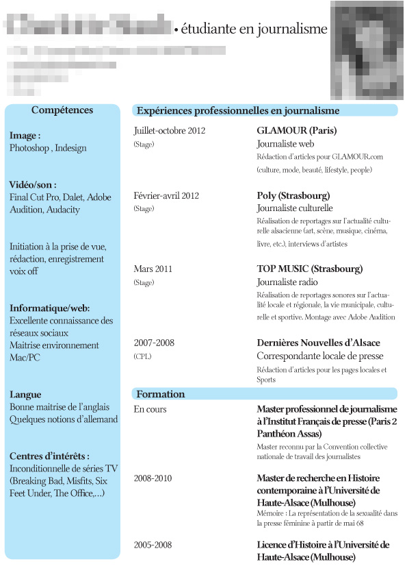 modele cv par competences attache commercial