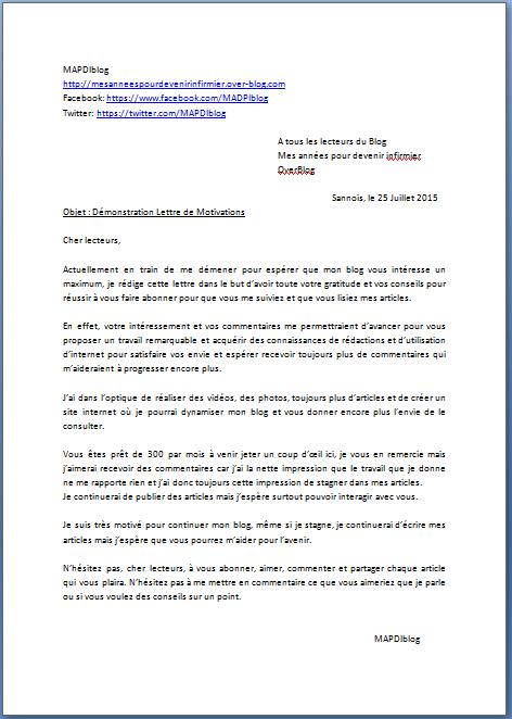 cv et lettre de motivation actualise