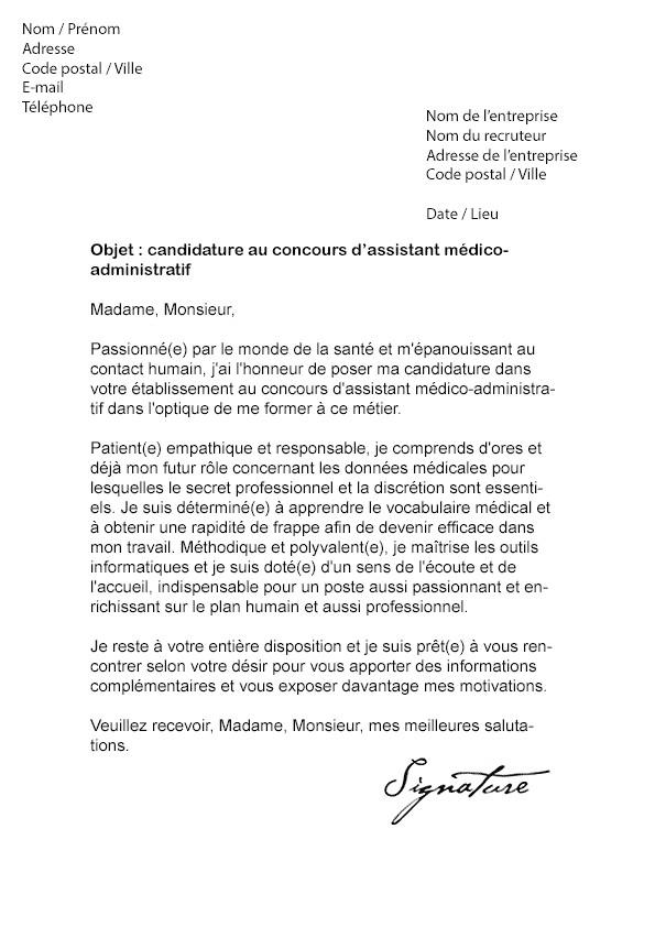 image exemple lettre de motivation assistante medico administrative lettre de presentation