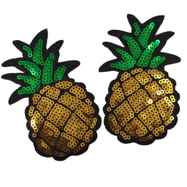 Écusson brodé thermocollant d'ananas
