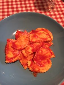 Sabato piovoso. Rainy saturday. ravioli
