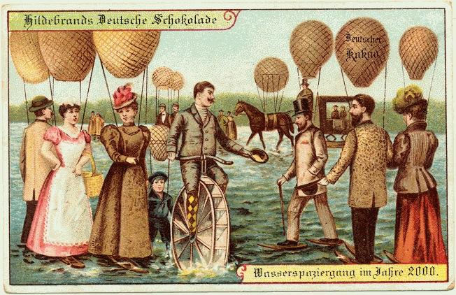 carte postale 2000 futur 01 En 1900, des cartes postales imaginent lan 2000