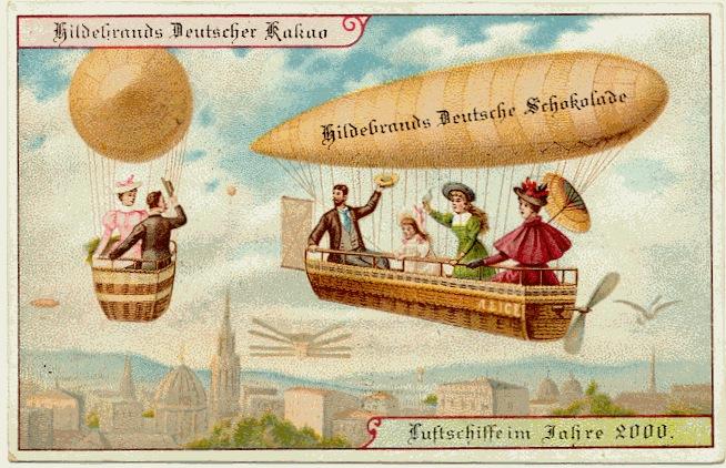 carte postale 2000 futur 10 En 1900, des cartes postales imaginent lan 2000