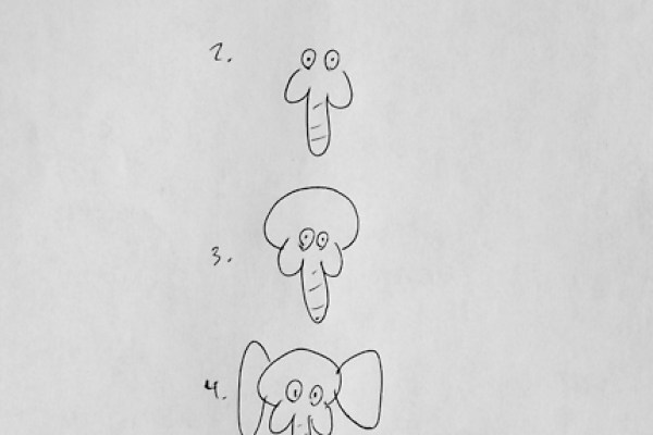 Comment dessiner un elephant de face - Comment dessiner un elephant facilement ...