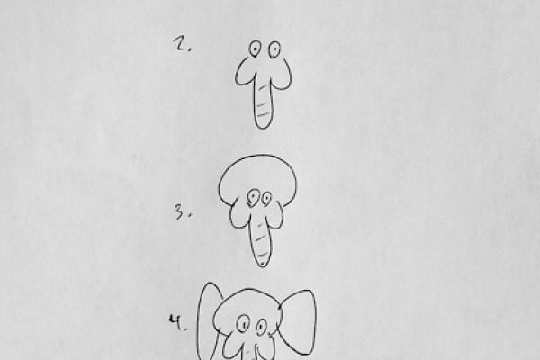 Modele Dessin Elephant Facile Dessin Facile