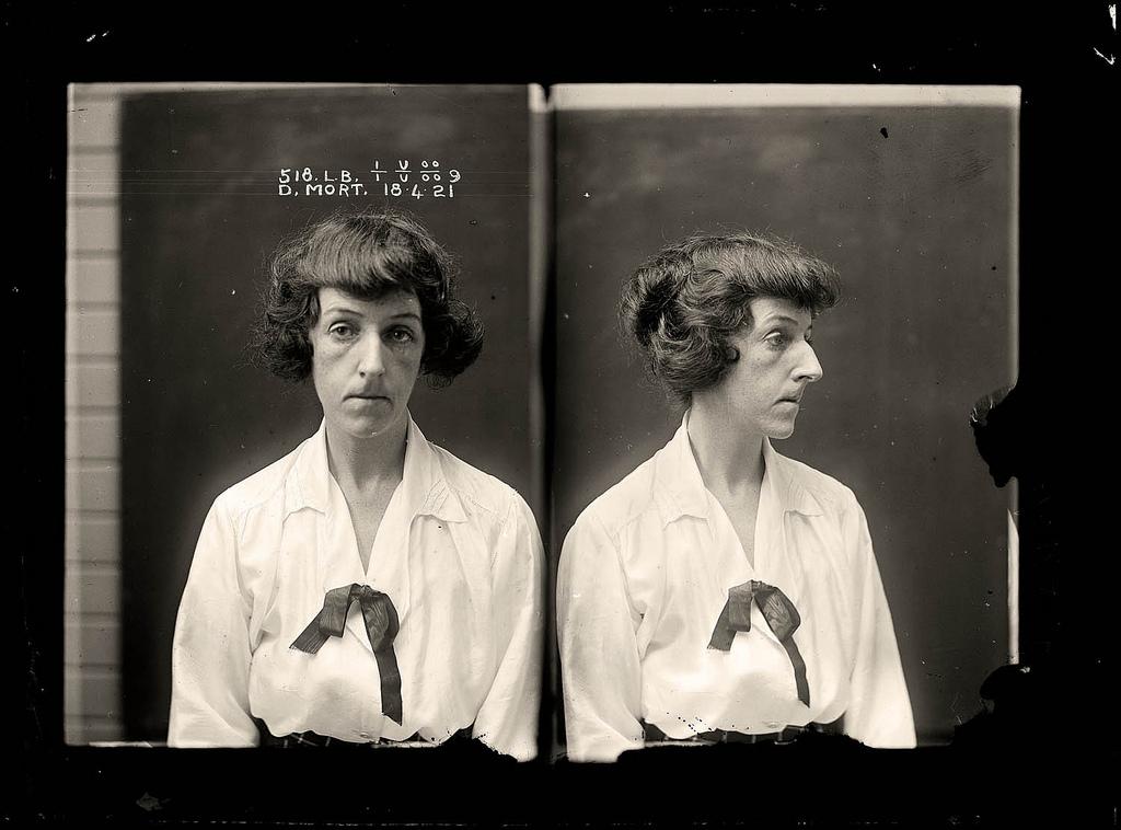Australian mugshots taken in a Sydney police station in the 1920's