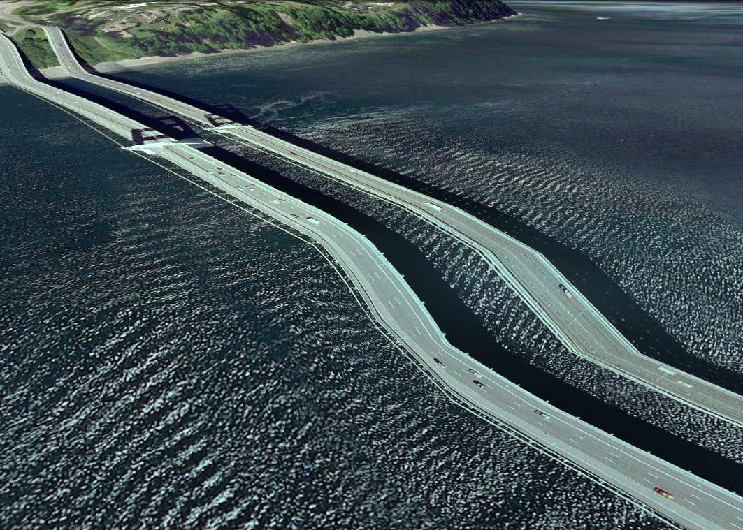 pont route google earth altitude relief 3d 05 Les ponts de Google Earth