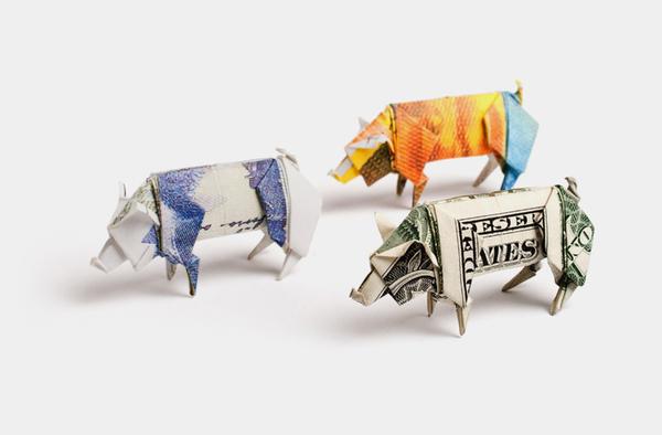 origami billet banque 01 Origamis en billets
