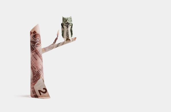 origami billet banque 05 Origamis en billets
