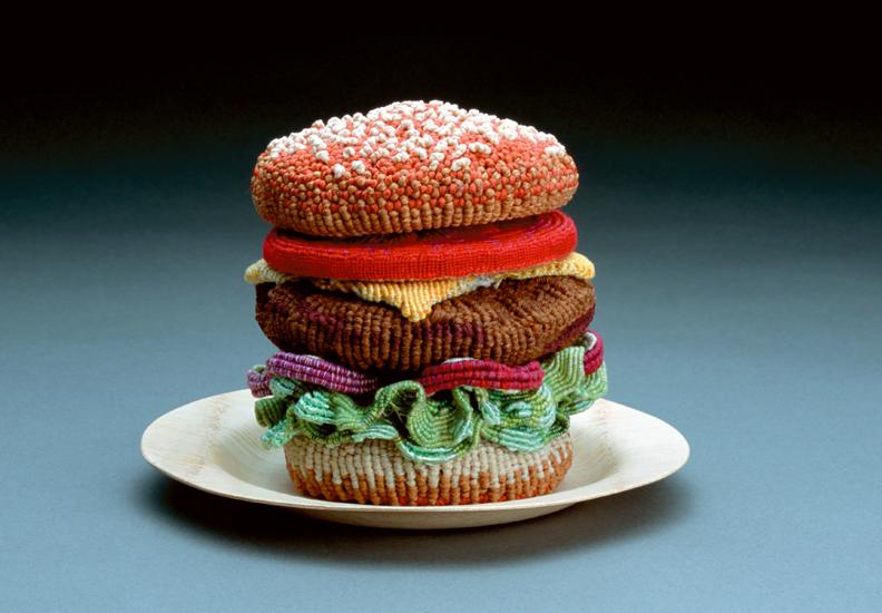 gateau nourriture aliment laine tricot 03 De la nourriture tricotée