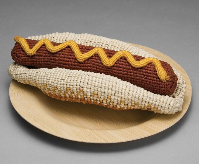 gateau nourriture aliment laine tricot 05 De la nourriture tricotée