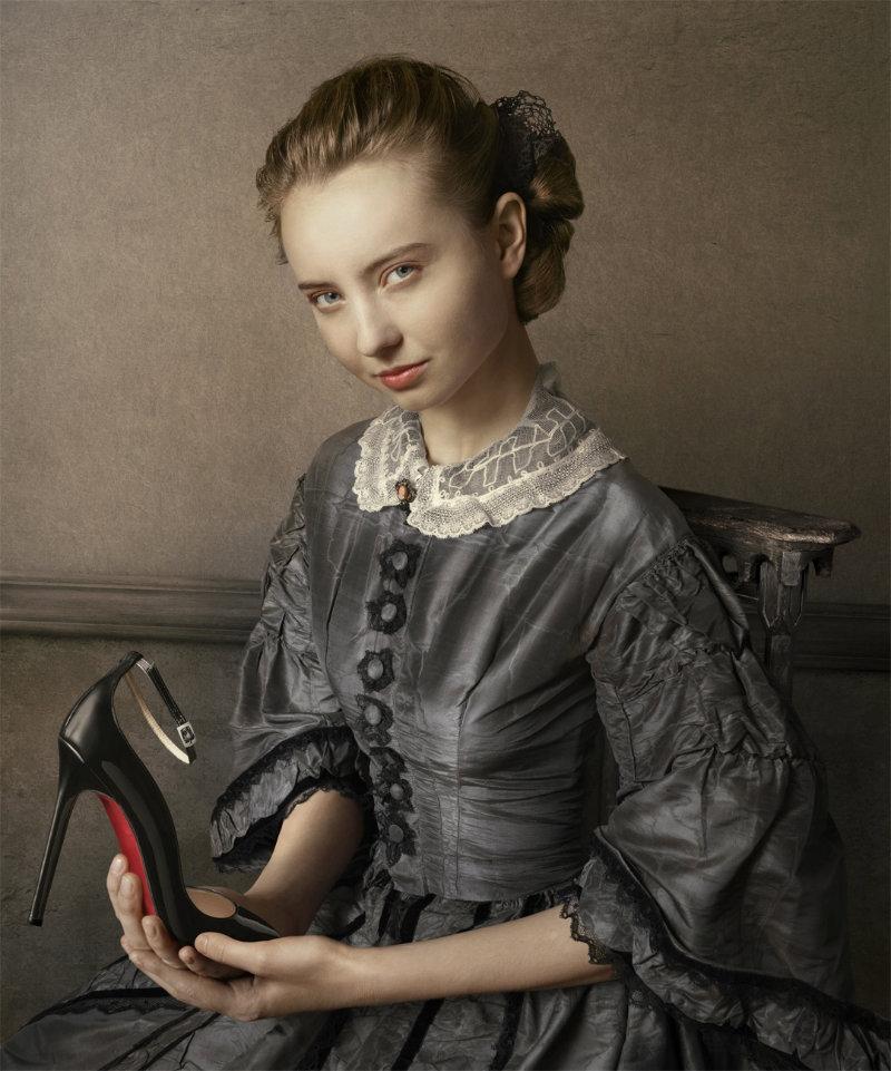 chaussure louboutin lippman portrait renaissance 06 Portraits style Renaissance par Peter Lippmann pour des chaussures