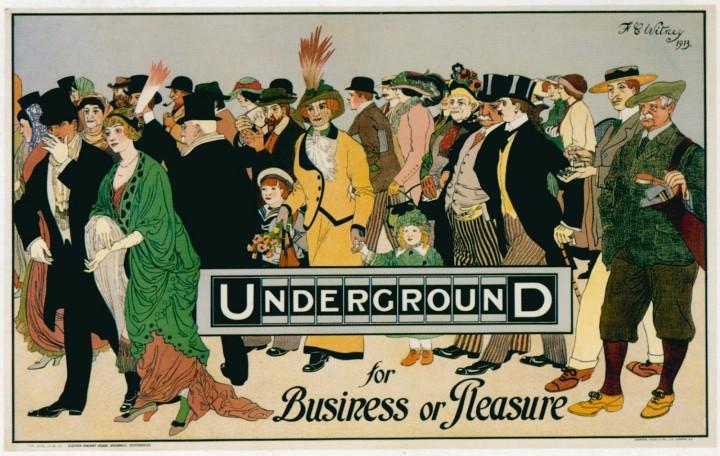 londres london metro undergroud affiche poster 24 720x456 150 ans daffiches du métro de Londres  histoire design bonus art
