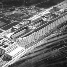 Le circuit sur le toit de l'usine Fiat Lingotto à Turin