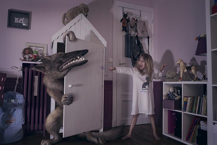 monstre nuit photoshop 01 Des monstres et des enfants dans la nuit