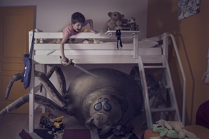 monstre nuit photoshop 03 Des monstres et des enfants dans la nuit