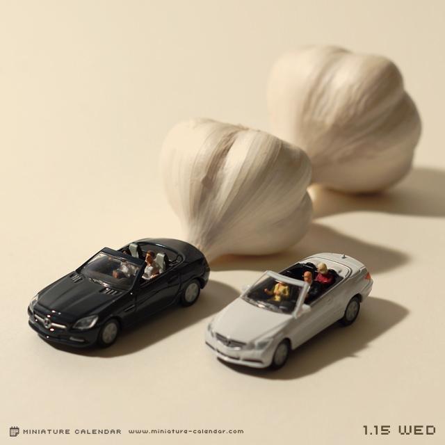 calendrier diorama miniature 03 Un diorama miniature par jour avec des objets détournés