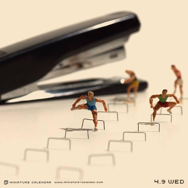 calendrier diorama miniature 07 Un diorama miniature par jour avec des objets détournés