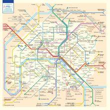 Le plan des stations du métro de Paris en anagrammes
