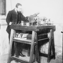Le bélinographe pour transmettre des photographies à distance - 1908