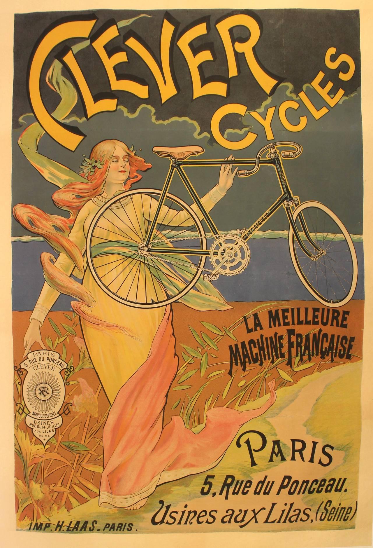 Velo Cycle Publicite Affiche Poster Ancien 38 La Boite Verte