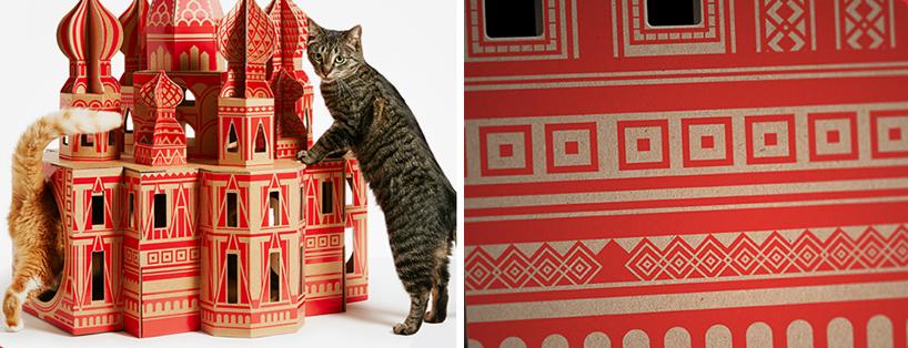 flatpack-cardboard-cat-houses-architectural-landmarks-designboom-02