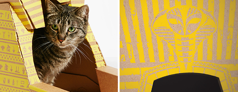 flatpack-cardboard-cat-houses-architectural-landmarks-designboom-06