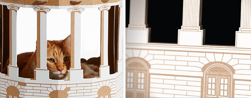 flatpack-cardboard-cat-houses-architectural-landmarks-designboom-10